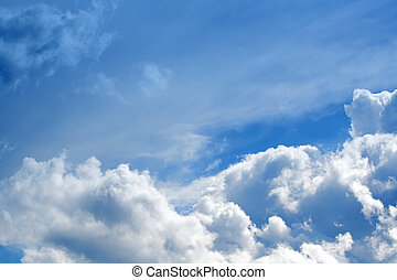 Beautiful clouds - Beautiful white clouds and blue sky on a ...