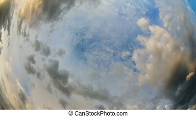 Beautiful Clouds- Fisheye Timelapse