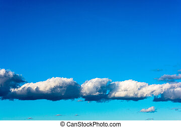 Beautiful clouds on a blue sky.