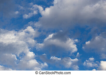 beautiful clouds on a blue sky