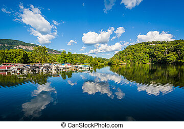 Beautiful clouds over Lake Lure, in Lake Lure, North Carolina.