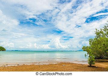 Beautiful clouds over the Andaman Sea, beautiful scenery