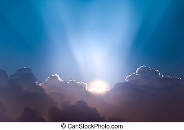 Beautiful Cloudscape And Sunrise