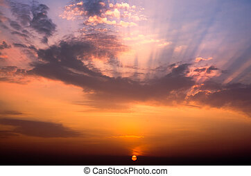 Beautiful cloudscape landscape sunrise