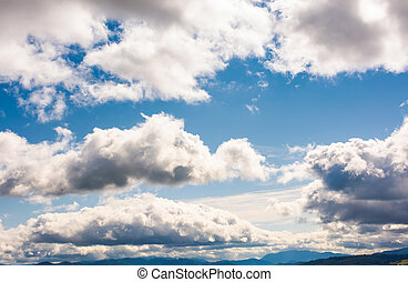 beautiful cloudscape on a blue sky. wonderful autumn...