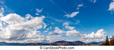 beautiful cloudscape over the mountain ridge. lovely nature...