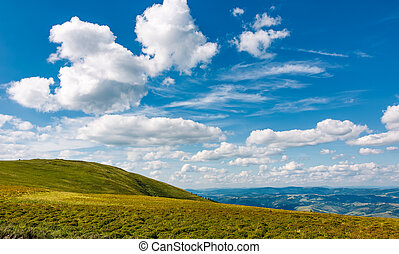 beautiful cloudscape over the mountain meadow. beautiful...