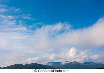 beautiful cloudscape over the mountains. lovely nature...