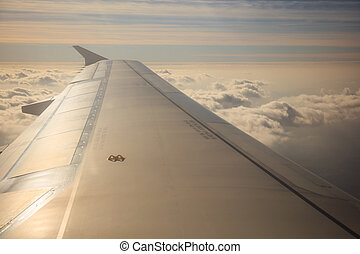 Beautiful cloudscape view from an airplane