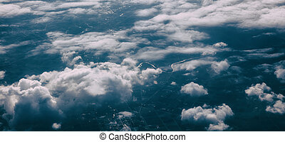 Beautiful cloudscape view over Greece