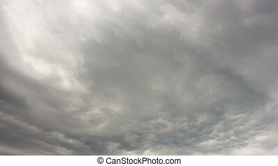 Beautiful cloudscape with large, building clouds. Time lapse...