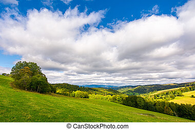 beautiful cloudy sky over the forested hills. wonderful...