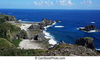 Beautiful coast and rock in Kenting South Taiwan - Beautiful...