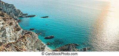 Beautiful Coast - Coast near the town of Tropea region...