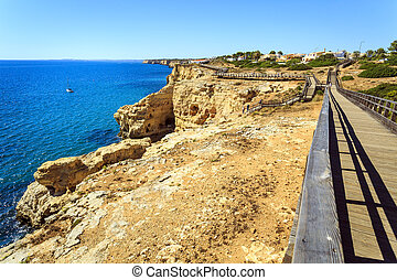 Beautiful coast in Carvoeiro, Algarve, Portugal
