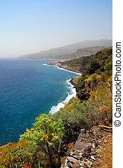 beautiful coast of La Palma (Canary Islands) Santa Cruz