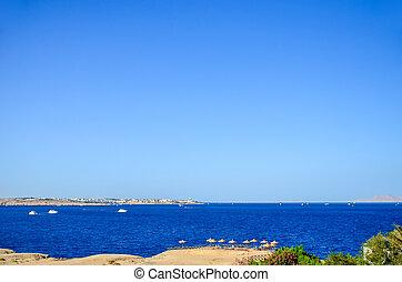 Beautiful coast of the Sinai Peninsula.