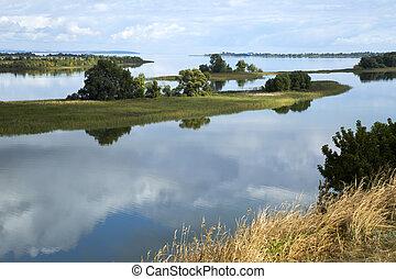 Beautiful coast of Volga river