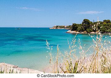 beautiful coast on the Blue Sea