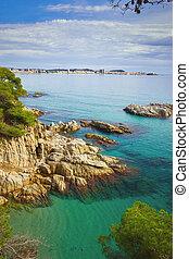 Beautiful coastal bay in Costa Brava of Spain, near village Sant Antoni de Claonge