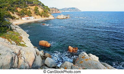 Beautiful coastal detail from Costa Brava in Spain