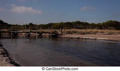 beautiful coastline and crystal blue sea, es grau, menorca,...
