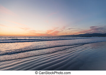 Beautiful coastline at sunset
