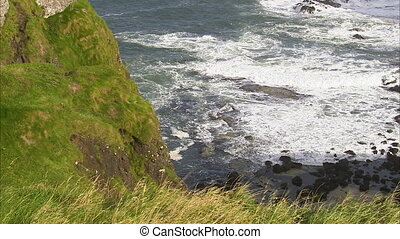Beautiful coastline in Ireland - A steady shot of a coast in...
