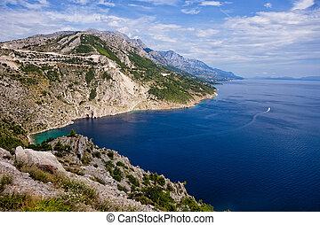 The Makarska Riviera is a part of the Croatian coast of the Adriatic Sea.