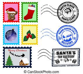 Christmas Postmarks and Stamps