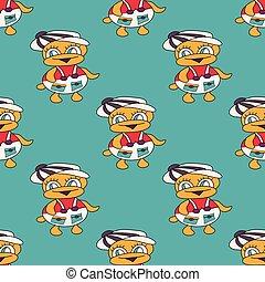 beautiful colored ducks baby seamless pattern