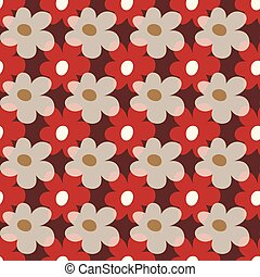 beautiful colored flowers seamless pattern vector illustration