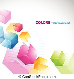 beautiful colorful 3d cubes design