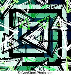 Beautiful colorful abstract graffiti polygons on a black...