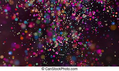 Beautiful colorful bokeh blurred background defocused lights...