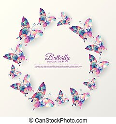 beautiful colorful butterfly background concept. Vector illustration template