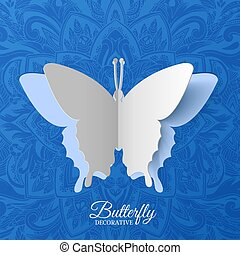 beautiful colorful butterfly background concept. Vector illustration template design
