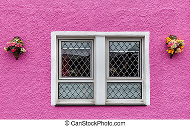 Beautiful colorful facade