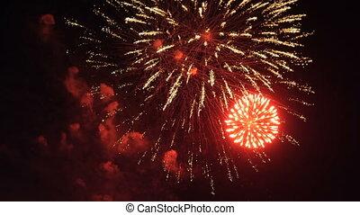 Beautiful colorful firework. Celebration - Colorful...