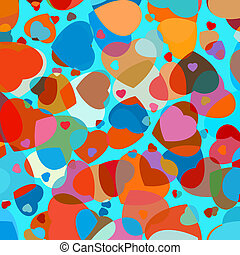 Beautiful colorful heart shape background. EPS 8 vector file...