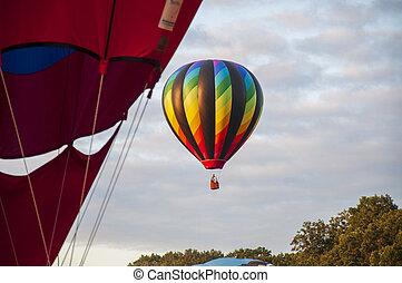 Beautiful Colorful Hot Air Baloon-Nine