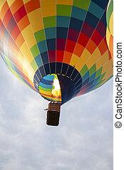 Beautiful Colorful Hot Air Baloon-Three