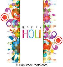 holi background - beautiful colorful indian festival holi...