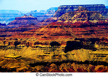 Grand Canyon - Beautiful colorful landscaped rock formations...