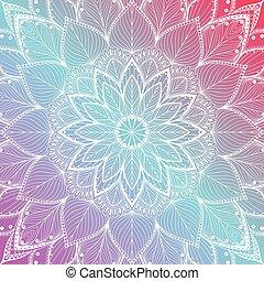 beautiful colorful mandala floral background