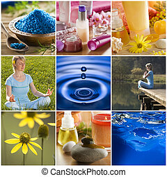 collage - beautiful colorful spa collage made from nine ...
