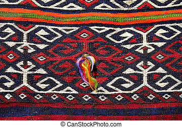 Beautiful colorful Turkish carpets