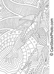 Beautiful coloring book page with cartoon hero