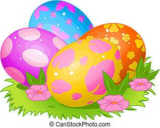 Beautiful coloring Easter eggs