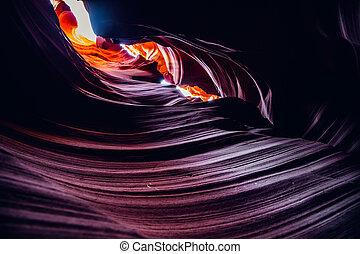 Beautiful colors at the Antelope canyon, Arizona